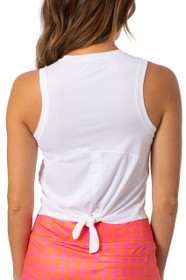 Golftini: Women's Sport Tech Tie Top - White