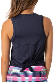 Golftini: Women's Sport Tech Tie Top - Navy