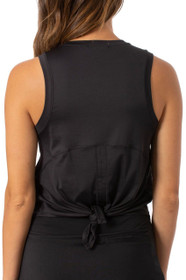 Golftini: Women's Sport Tech Tie Top - Black