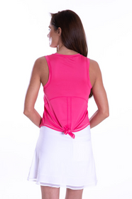 Golftini: Women's Sport Tech Tie Top - Hot Pink