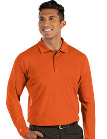 Antigua: Men's Essentials Long Sleeve Polo - Tribute 104331