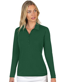 Antigua: Women's Essentials Long Sleeve Polo - Tribute 104354