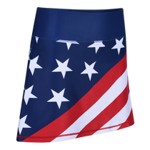 USA Flag Ladies Active SKORT by ReadyGOLF