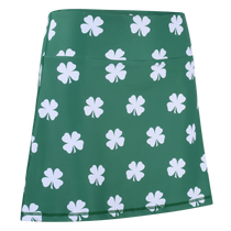 Four-Leaf Clover (White) Ladies Active SKORT by ReadyGOLF
