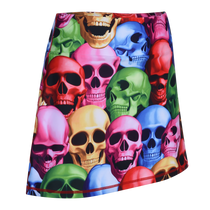 Pile of Skulls Ladies Active SKORT by ReadyGOLF