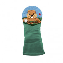 Smathers & Branson: Fairway Wood Headcover -  Gopher Golf Needlepoint
