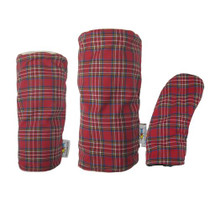 Sunfish: Tartan Headcover Set - Red + Blue + White + Yellow