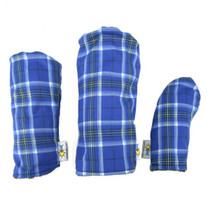 Sunfish: Tartan Headcover - Royal Blue + Black + White