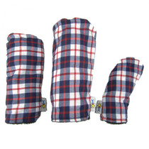 Sunfish: Tartan Headcover - White + Navy + Red
