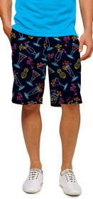 Loudmouth Golf: Men's StretchTech Shorts - Neon Cocktails