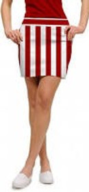 Loudmouth Golf: Womens Skort - Barber Pole