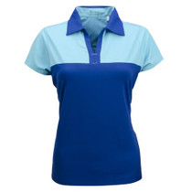 Nancy Lopez Golf: Women's Short Sleeve Plus Polo - Pursuit (TWILIGHT/AQUARIUS) 2XL - SALE