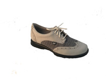 Sandbaggers: Women's Golf Shoes - Charlie Heathered Tweed Gray