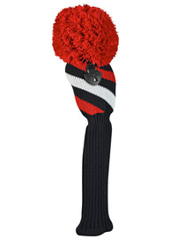 Just 4 Golf: Fairway Headcover - Diagonal Stripe - Red, Black and White
