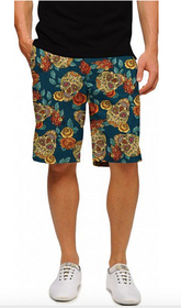 Loudmouth Golf: Men's StretchTech Shorts - Rosa (skulls)