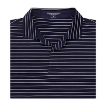 Fairway & Greene: Men's The Madden Stripe Natural Jersey Polo