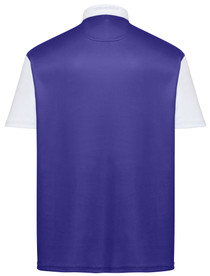 Classic Argyle Mens Golf Polo Shirt - Purple & Orange by ReadyGOLF (Pre-Order)