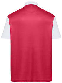 Classic Argyle Mens Golf Polo Shirt - Red, Grey & White by ReadyGOLF (Pre-Order)