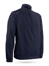 Sun Mountain: Men's Brushed Solo Long-Sleeve -Navy (Large) SALE