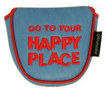 Happy Place Embroidered Putter Cover - Mallet (Pre-Order)