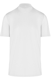 ReadyGOLF Mens Mock Neck Stretch Fit Polo Shirt - White