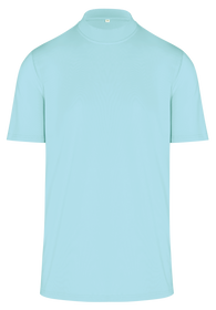 ReadyGOLF Mens Mock Neck Golf Polo Shirt - Seafoam