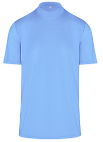 ReadyGOLF Mens Mock Neck Golf Polo Shirt - Blue
