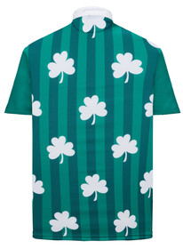 Shamrock Stripes Mens Golf Polo Shirt by ReadyGOLF