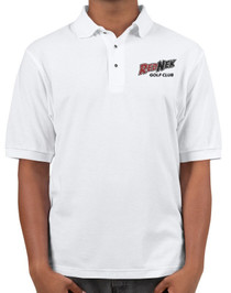 RedNek Golf Club Men's Embroidered Golf Polo Shirt - White