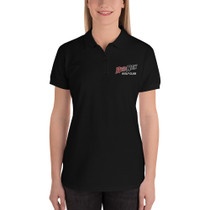 RedNek Golf Club Women's Embroidered Golf Polo Shirt - Black