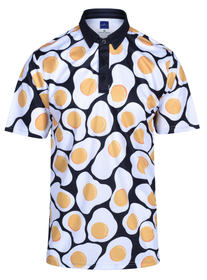 Fried Eggs Mens Golf Polo Shirt by ReadyGOLF