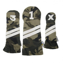 DuraLeather Headcovers Set - Camo Fabric with White Stripes SALE
