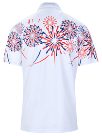 USA Firecracker Mens Golf Polo Shirt by ReadyGOLF