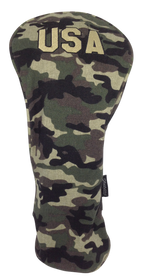 Military Camo Embroidered Driver Headcover by ReadyGOLF - USA