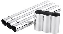 Stainless Steel Triple Cigar Tube - Holds 3 Cigars