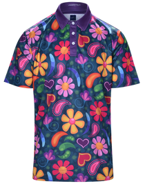 Paisley Love Mens Golf Polo Shirt by ReadyGOLF
