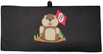 19th Hole Dancing Gopher Waffle Golf Towel by ReadyGOLF