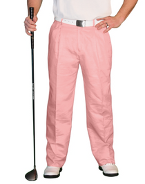 Golf Knickers: Men's 'Par 4' Cotton/Ramie Golf Trousers - Pink