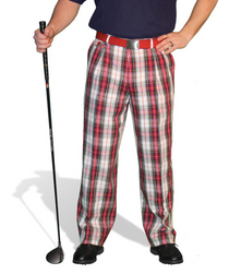 Golf Knickers: Men's 'Par 5' Cotton/Ramie Golf Trousers - Dress Stewart