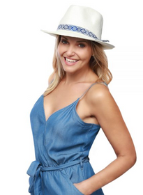 Physician Endorsed: Women's Panama Hat - Azure
