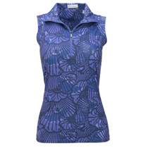 Nancy Lopez Golf: Women's Sleeveless Plus Polo - Wave