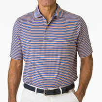 Fairway & Greene: Men's Repp Stripe Jersey Polo