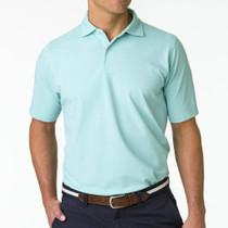 Fairway & Greene: Men's Twill Print Natural Jersey Polo
