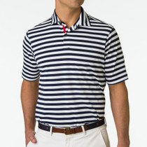 Fairway & Greene: Men's USA The Clevelander Stripe Pique Polo