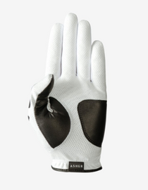 Asher Golf: Mens Golf Glove DeathGrip 2.0 - White