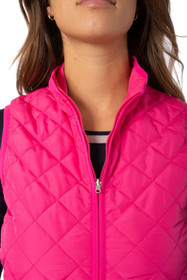 Golftini: Women's  Wind Vest - Hot Pink