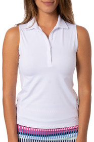 Golftini: Women's Sleeveless Fabulous Polo - White