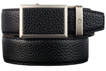 Nexbelt: Men's Go-In Pebble Grain V.4 Belt - Pitch Black