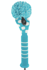 Just 4 Golf: Dot Fairway Headcover - Turquoise & White