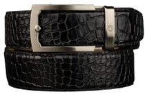Nexbelt: Men's Crocodile Dress Belt - Black